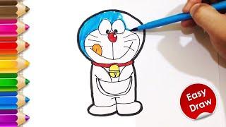 How To Draw Doraemon   Easy Cartoon Drawing   Kobina Toy Art ☆