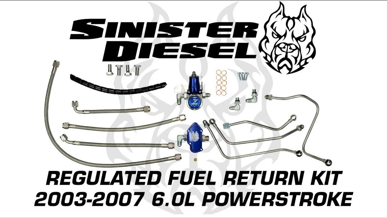 Sinister Diesel Regulated Fuel Return Install for 6.0L