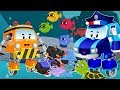 Baby Cars with Police Car Cleaning Under Water to save Sea Animals | Kids Cartoon Rhymes