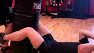 Punching Bag Sit-ups w/ punch