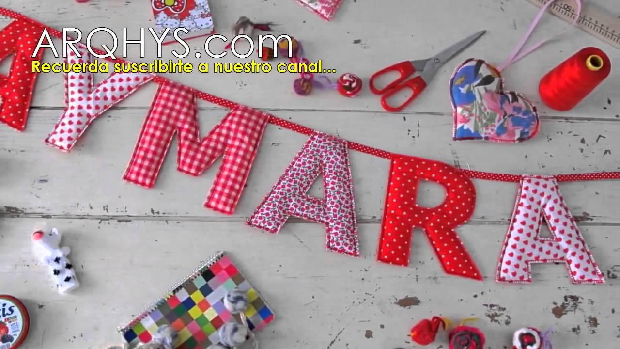Letras decorativas para bebes letras para cuartos y - Letras decorativas pared ...