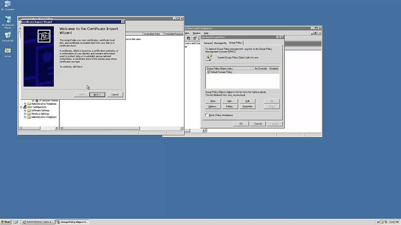 Windows 2003 Ssl Cert Install Youtube