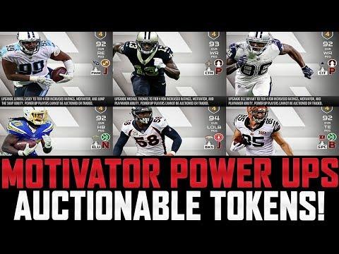 Breaking MUT 18 News! | MOTIVATOR POWER UPS + AUCTIONABLE SILVER/GOLD/ELITE TOKENS!