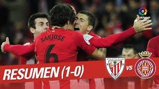 Resumen de Athletic Club vs Girona FC (1-0)