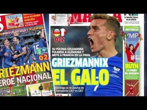 France - Allemagne (2-0) : Antoine Griezmann met l'Europe à ses pieds