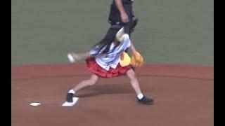 【仮面女子】猪狩ともかが牧田式サブマリン投法で始球式!!