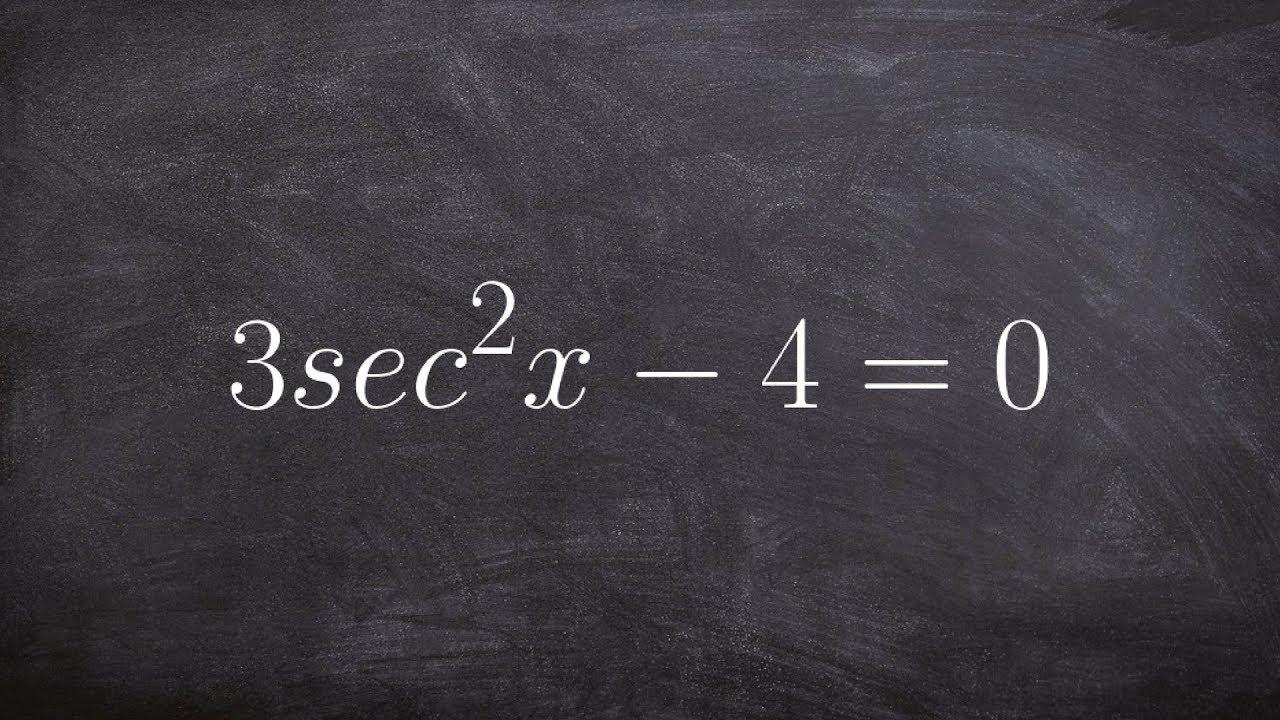 how to solve trigonometric equations step by step