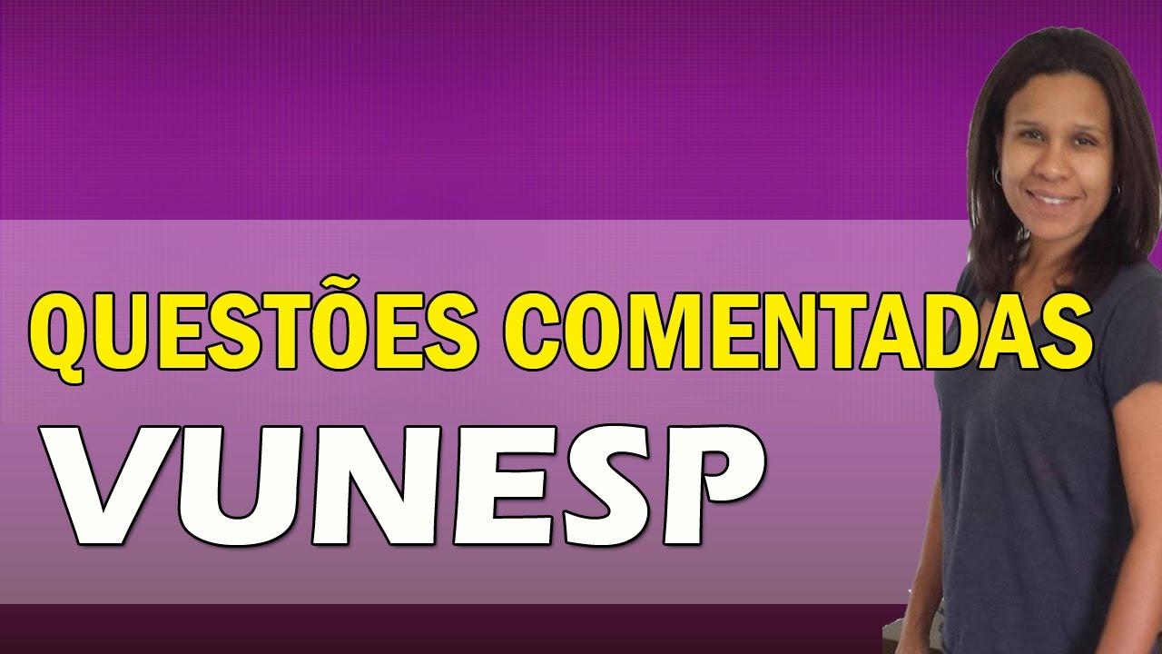 Questoes Comentadas De Portugues Vunesp Video Demonstrativo