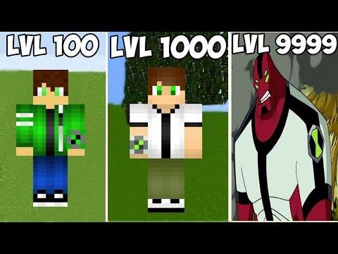 ⚠️ 🔥 MUTANT BEN 10 SEVİYELERİ! - Minecraft 🔥 ⚠️