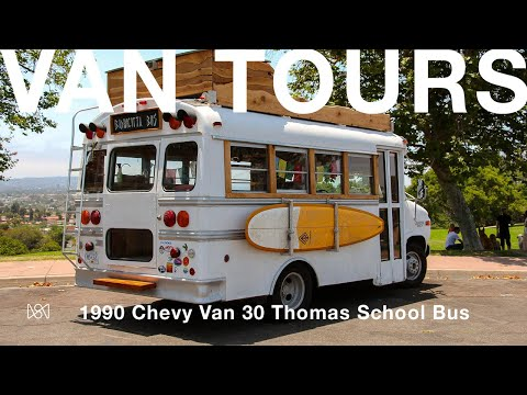 Van Tours: Andrew Talbot and His 1990 Chevy Van 30 Thomas School Bus