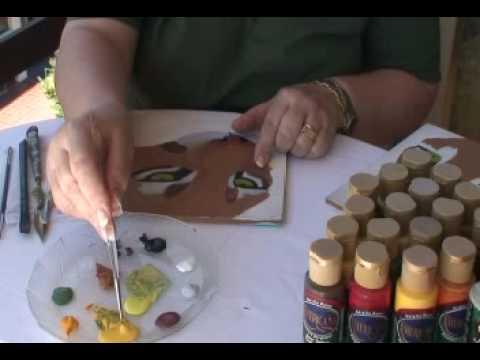 Pintura decorativa como pintar ojos de puma youtube for Como pintar un ojo