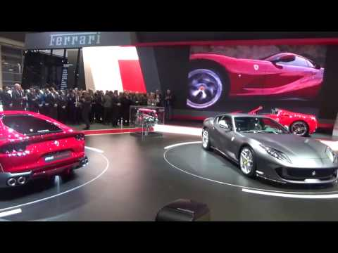 Ferrari 812 Superfast Premiere and Conference at Geneva Motor Show 2017