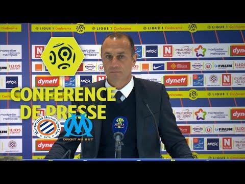 Conférence de presse Montpellier Hérault SC - Olympique de Marseille (1-1) / 2017-18