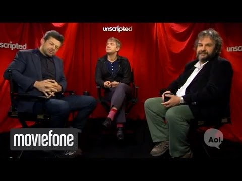 'The Hobbit' | Unscripted | Andy Serkis, Martin Freeman, Peter Jackson