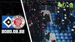 St. Pauli-Ultras Stürmen HSV-Block   Hamburger SV - FC St. Pauli 2020.02.22   HSV - FCSP 0:2