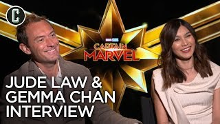 Captain Marvel: Jude Law & Gemma Chan Interview