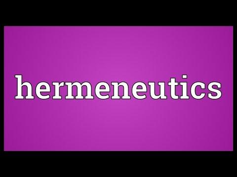 Hermeneutics Meaning