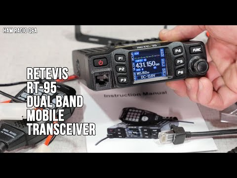 Retevis RT-95 Dual Band Mobile Transceiver Review - Ham Radi