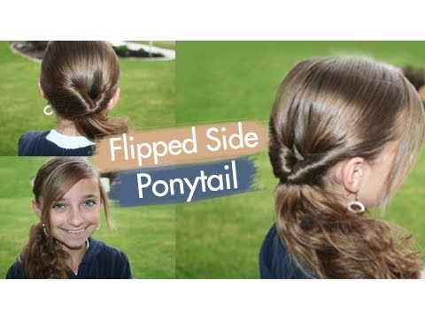 Flipped Side Ponytail Cute Girls Hairstyles  YouTube - Cute Girls Hairstyles Youtube