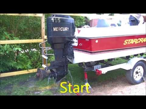 1989 pro line center console mercury 115hp outboard run for Yamaha outboard compression test results