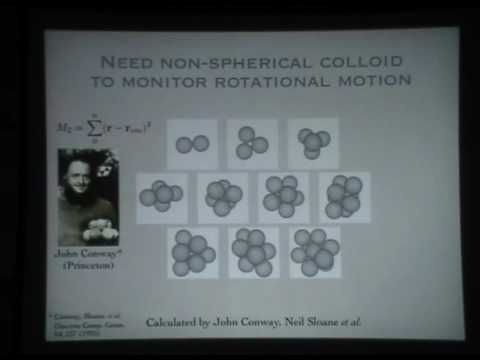 Colloidal self-assembly III - David Pine