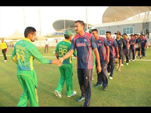 NEPAL VS PAKISTAN CRICKET,SHEIKZAYAD STADIUM,UAE