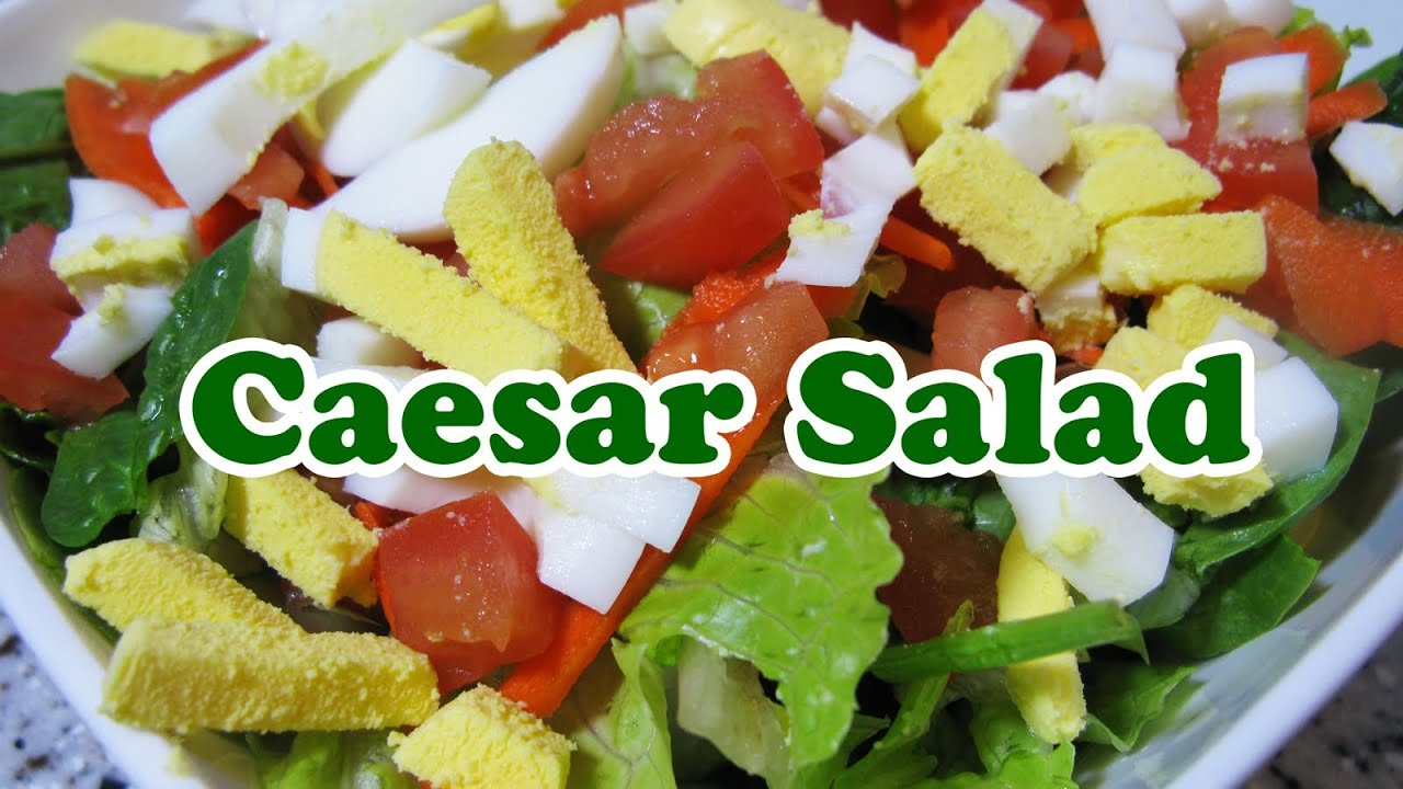 How To Make Caesar Ceasar Salad Organic Lettuce Spinach Eggs Recipe Best Dressing Thousand Island Youtube