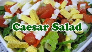 How To Make Caesar Ceasar Salad - Organic Lettuce Spinach Eggs Recipe -best Dressing Thousand Island