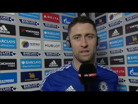 GARY CAHILL - Chelsea 5: 1 Newcastle United-INTERVIEW  Premier League 13-02-2016