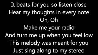 Jason Chen - My Hearts A Stereo - Lyrics