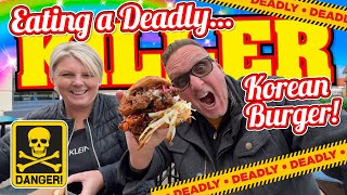 Eating a KILLER Korean Fried Chicken Burger that was DEADLY!