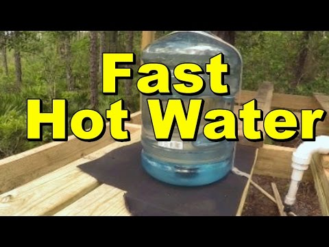 Fastest Solar Water Heater,  5 gallons within minutes