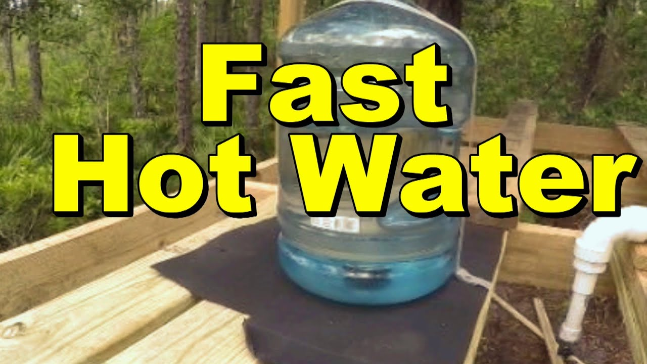 Fastest Solar Water Heater 5 Gallons Within Minutes