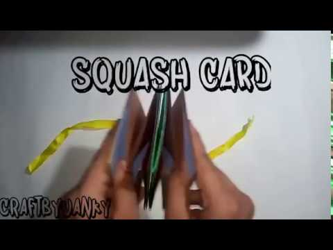How to make a Squash Card - Squash Book - Greeting Paper Card - DIY Crafts - Scrapbooking Gift Ideas