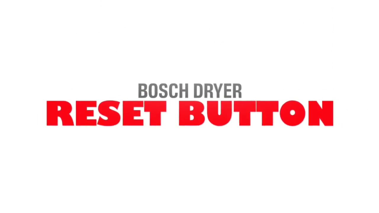 Bosch dryer wont heat reset button quick fix youtube bosch dryer wont heat reset button quick fix sciox Image collections