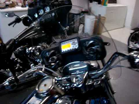 Harley Davidson Road King Windshield Stereo System Youtube
