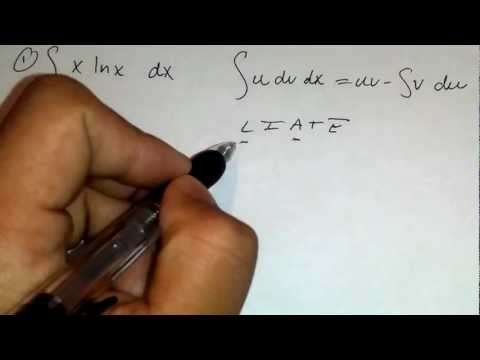 Integration By Parts Simple Problem X ln X dx