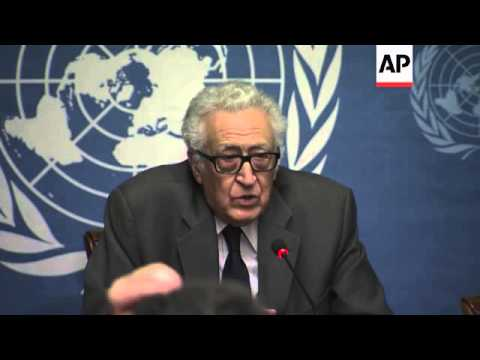 Brahimi confirms Syria government and opposition to meet face-to-face
