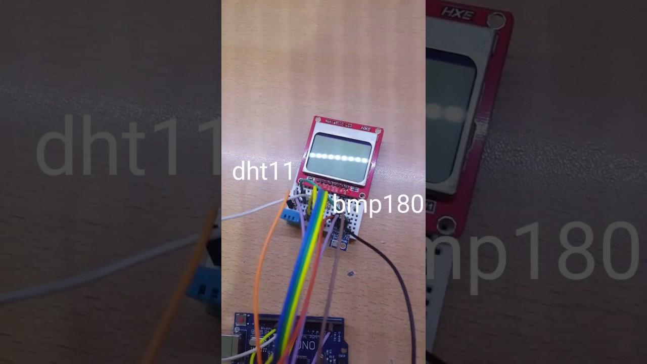 Arduino hava istasyonu weather station dht