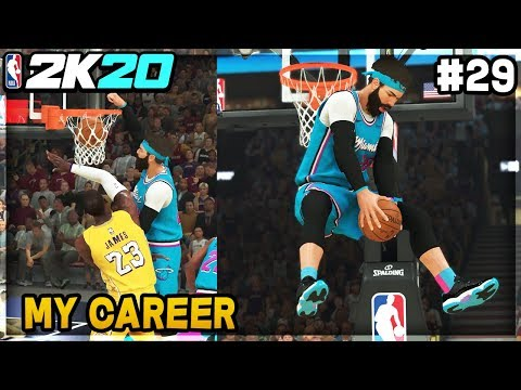 DUNKING ON LEBRON TWICE! Big Boy Body Dunks! NBA 2K20 My Career EP 29