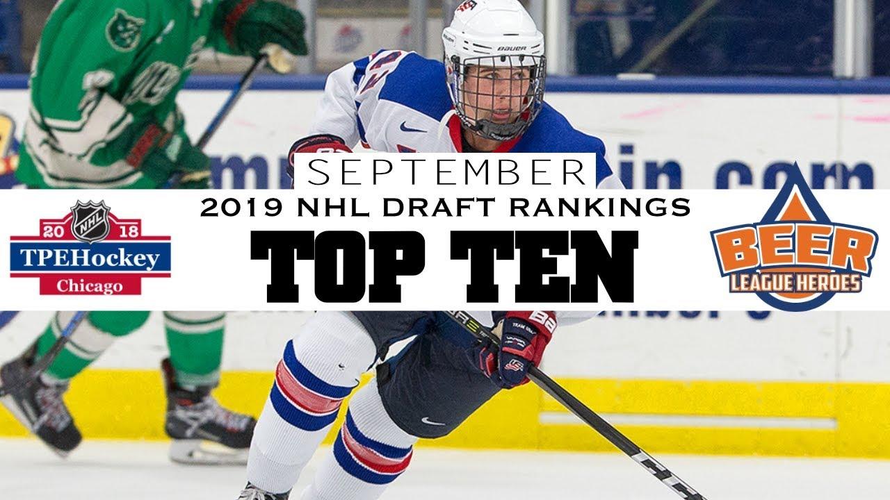 Top Ten 2019 NHL Draft Prospects (Feat  Hughes, Kakko, Newhook, etc ) -  Beer League Heroes