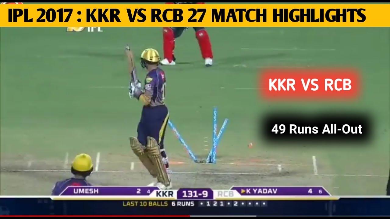 IPL 2017:KOLKATA KNIGHT RIDERS VS ROYAL CHALLENGERS ...