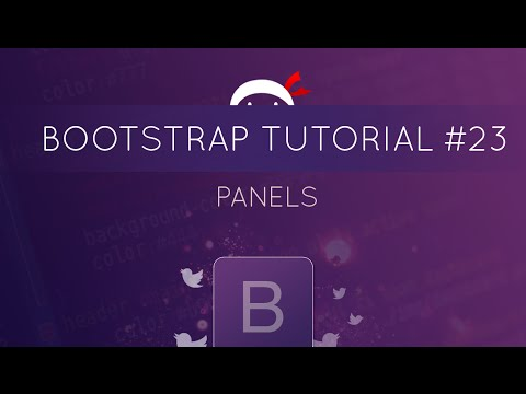 Bootstrap Tutorial #23 - Panels