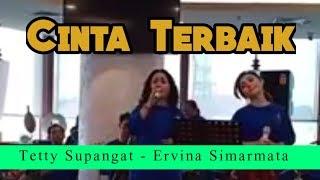 "Tetty Supangat & Ervina, Keroncong De Poespo, ""Cinta Terbaik' cover"