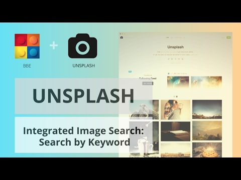 Integrated Image Search: UnSplash Search by Keyword