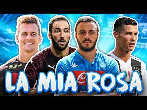 VI ROMPO IL C***!!! LA MIA ROSA DEL FANTACALCIO 2018/2019!