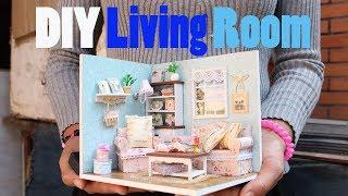 DIY Dollhouse Miniature Living Room   How To Make Miniature (Very Easy)