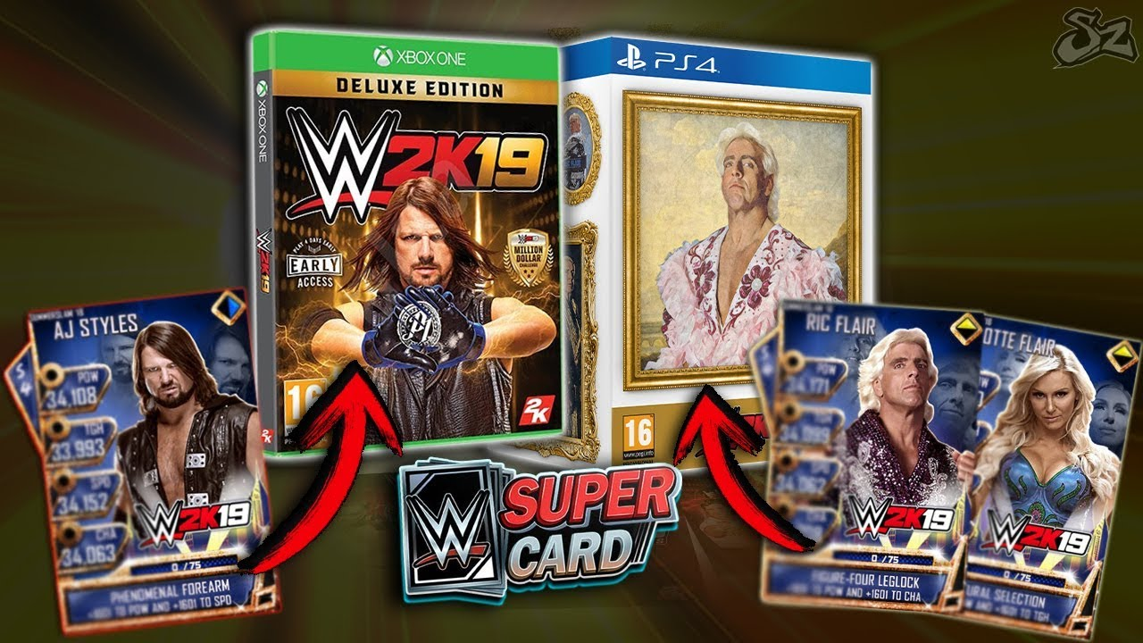 wwe 2k19 collectors edition supercard