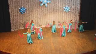 Восточные танцы тренер Наталья Червоноштан Новогодний концерт 24.12.17