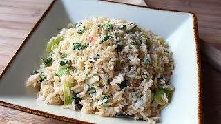 Bok Choy Rice - Easy Bok Choy Steamed Rice Recipe